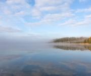 Dimma över Våmfjärden