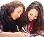 skolfotografering, elever pluggar