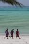 massajer på en strand på Zanzibar